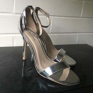 Silver Mirror Heeled Sandal👠👠👠